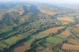 Vol en montgolfière au-dessus des villages de Bourgogne